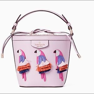 Kate Spade pippa flock bucket bag